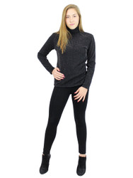 Shimmer and Shine Turtleneck Long Sleeve with Fleece Black Size M