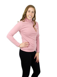Shimmer and Shine Turtleneck Long Sleeve with Fleece Pink Size L