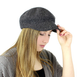 100% Wool Newsboy Cap Hat Grey