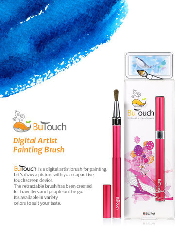 SilstarButouchBrush Pen Stylus Digital Touch Pen For Android iPhone iPad Tablet Touch Screens Fuchsia