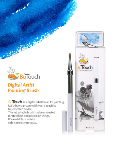 SilstarButouchBrush Pen Stylus Digital Touch Pen For Android iPhone iPad Tablet Touch Screens White