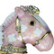 Miniature Rocking Horse Trinket Box Bejeweled Pink and Purple