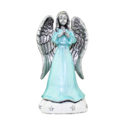 Praying Angel on Cloud Trinket Box Hinged Pewter