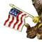 Glory Bald Eagle with American Flag Trinket Box