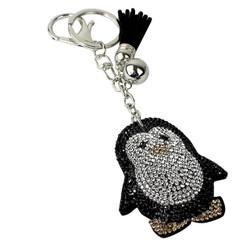 Penguin Rhinestone Keychain with Soft Padded Backing