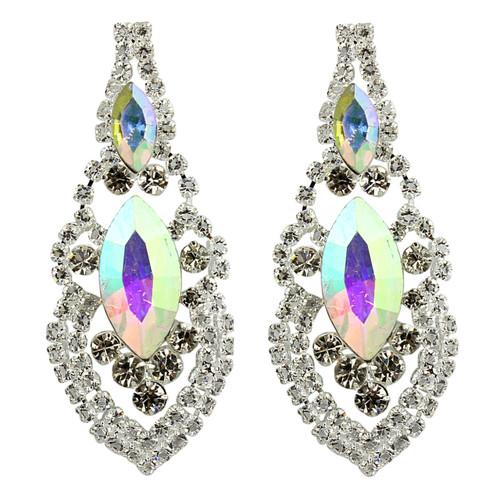 Cubic Zirconia Earrings Edwardian Style AB
