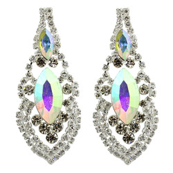 Cubic Zirconia Earrings Edwardian Style AB