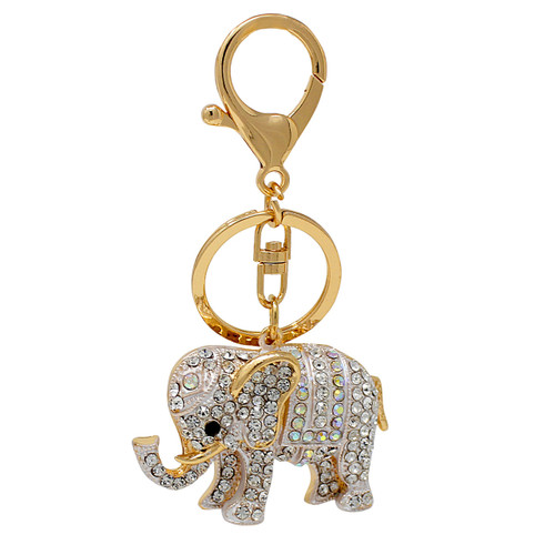 Elephant Keychain Bag Charm Gold