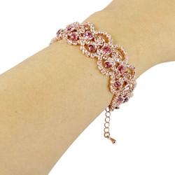 Victorian Bracelet Cubic Zirconia Rose