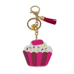 Cupcake Keychain Bag Charm PVC