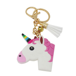 Unicorn Keychain Bag Charm PVC