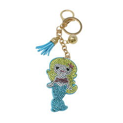 Mermaid Key Chain with Soft Padded Felt Backing