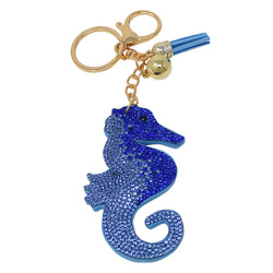 Seahorse Key Chain with Soft Padded Felt Backing