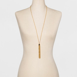 Women's Chain Tassel Necklace Gold Tone