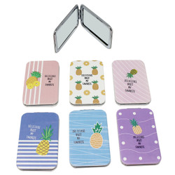 Set of 6 Pineapple Compact Mirror Rectangular