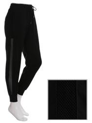 Black Jogger Side Mesh Panel Size 0-6