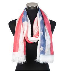 American flag patriotic scarf spring colors pastel