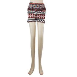 Desert Diamond Tribal Patterned High Waistband Short Leggings