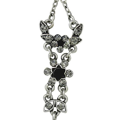 Elegant Black Dangle Earrings Crystals
