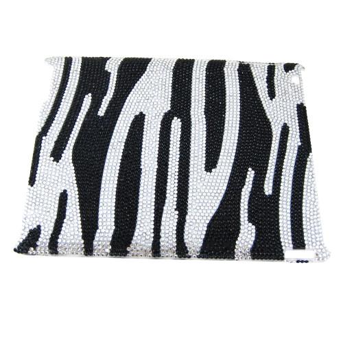 iPad Case Rhinestones Zebra Print