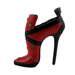 Vintage Style Boot High Heel Shoe Ring Holder Red
