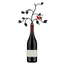 Red Bird Tree Wine Bottle Stopper Jewelry Stand DIY Kit