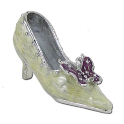 Butterfly Miniature Shoe Ring Holder with Ring Insert
