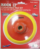"6"" x 5/8"" Cushioned Pad Kit PSA Adhesive Keen Abrasives #76412 - Lot of 1"