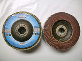 "4-1/2"" x 7/8"" Flap Disc 80 Grit Type 27 AO Professional Grade 50 Discs"