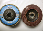 "4-1/2"" x 7/8"" Flap Disc 60 Grit Type 27 AO Professional Grade 50 Discs"