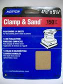 "4-1/2"" x 5-1/2"" 150 Grit 1/4 Sanding Sheets (6) sheets Norton #48300"