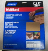 9 x 11 All Purpose Sandpaper 220 Grit 5 packs of 5 Sheets=25 Sheets Norton