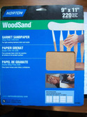 9 x 11 WoodSand Sandpaper 220 Grit 5 packs of 5 Sheets=25 Sheets Norton
