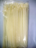 "8"" Nylon Reusable Beaded Cable Zip Ties. 100 Count Natural - FREE SHIPPING"