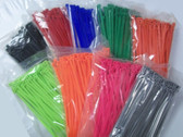 "7"" Nylon Cable Zip Tie 50 lb 100 Count, Your Choice of Color"