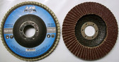 "4-1/2"" x 7/8"" Flap Disc 40 Grit Type 27 AO Professional Grade 50 Discs"