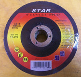 "4"" x 1/4"" x 5/8"" Grinding Wheel Type 27 Metal 5pk"