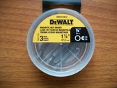 "DeWALT 1/4"" Magnetic Nut Setter 1-7/8"" long DW2218C3 - 3 Packs Of 3 Bits=9 Bits"