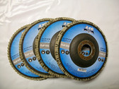 "4-1/2"" x 7/8"" Flap Discs, Type 27, AO, Professional Grade, 25 Discs, Free Shipping!"