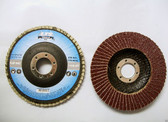 "4-1/2"" x 7/8"" Flap Discs, Type 27, AO, 36 Grit, Professional Grade, 90 Discs, Free Shipping!"