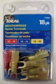 Weatherproof Spade Terminals Multipack - Ideal 770325,18pk, Lot of 1