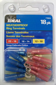 Weatherproof Ring Terminals Multipack - Ideal 770324,18pk, Lot of 5