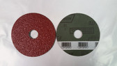 "4-1/2"" x 7/8"" Fiber Resin Sanding Disc Norton, 25 pack"