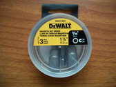"DeWALT 5/16"" Magnetic Nut Setter 1-7/8"" long DW2219C3 -16 Packs of 3 Bits=48 Bits"