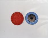 "2"" Sandpaper Roloc Discs, 36 Grit, A/O Type R, Gemtex, 100 pack"