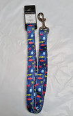 "Dog Leash 6' x 1"" Under the Sea Blue by Zack & Zoey, Lot of 1"