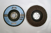 "4-1/2"" Flap Disc 36 Grit Type 27 AO Professional Grade 50 Discs"