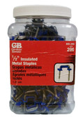 """1/2"""" Metal Insulated Staples GB, Lot of 200"""
