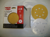 "5"" 8 Hole Stick On Sanding Discs 50pk 60 Grit PC #725800650"