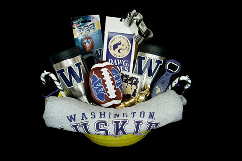 University of Washington Huskies Gift Basket